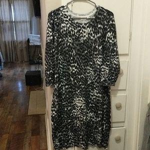 Cato | cheetah print sweater dress